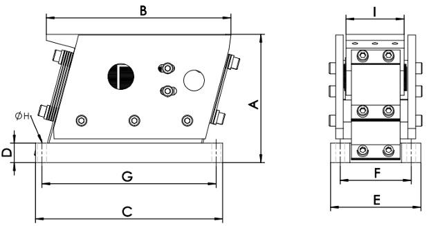 Электромагнитный вибропривод серии ВПЛ для вибролотков
