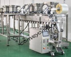 Автоматическая линия для составления и упаковки наборов мебельной, сантехнической и др. фурнитуры.