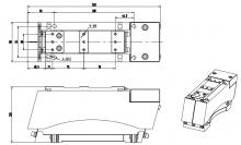 Электромагнитный вибратор для лотка NTL-650B для перемещения различных продуктов и изделий